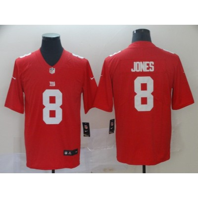 Nike Giants 8 Daniel Jones Red 2019 NFL Draft Vapor Untouchable Limited Men Jersey
