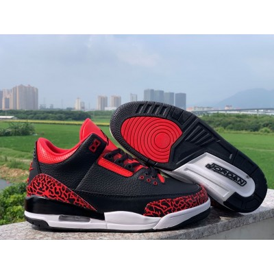 Air Jordan 3 Black Red Shoes