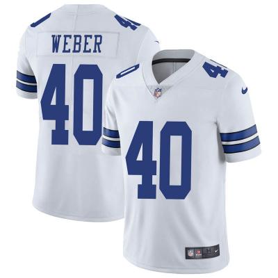 Nike Cowboys 40 Mike Weber white Vapor Untounchable limited Men Jersey