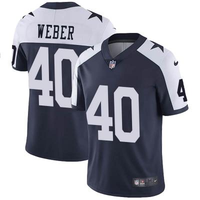Nike Cowboys 40 Mike Weber Navy Throwback Vapor Untounchable limited Men Jersey