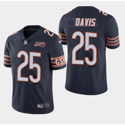 Nike Bears 25 Mike Davis Navy 100th Anniversary Vapor Untouchable Limited Men Jersey