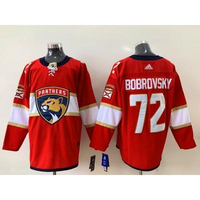 NHL Panthers 72 Sergei Bobrovsky Adidas Red Men Jersey