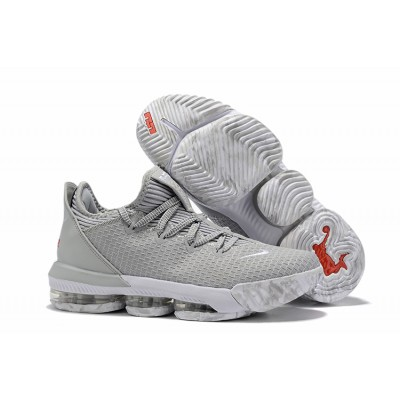 Nike LeBron 16 Low Wolf Grey White Pure Shoes