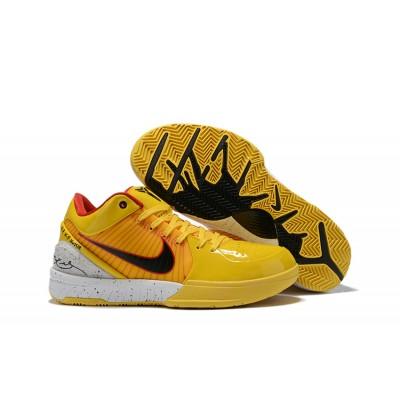 Nike Kobe 4 Protro 'Bruce Lee' Yellow White Shoes