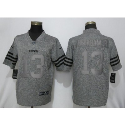 Nike Browns 13 Beckham Jr Gray Gridiron Gray Vapor Untouchable Limited Men Jersey