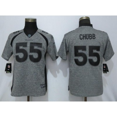 Nike Broncos 55 Bradley Chubb Gray Gridiron Gray Vapor Untouchable Limited Women Jersey