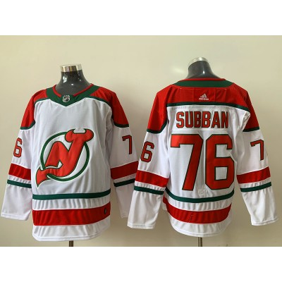 NHL New Jersey Devils 76 P.K. Subban White Alternate Adidas Men Jersey