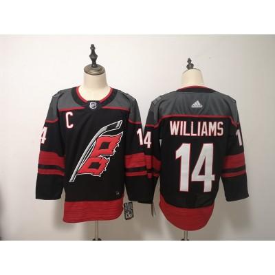 NHL Hurricanes 14 Justin Williams Black Adidas Men Jersey