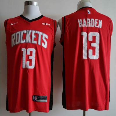 NBA Rockets 13 James Harden Red Nike Swingman Men Jersey