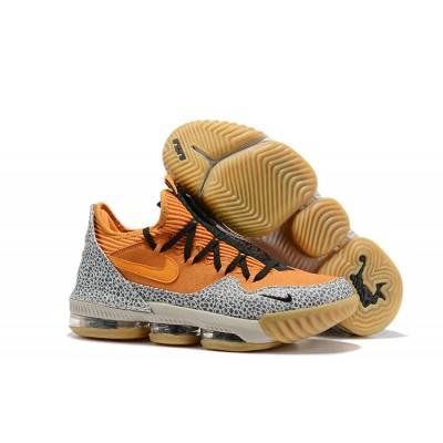 "Nike LeBron 16 Low ""Safari"" Kumquat Black Shoes"