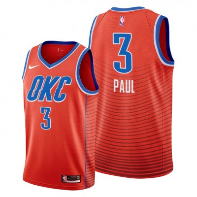 NBA Oklahoma City Thunder 3 Chris Paul Orange Nike Men Jersey