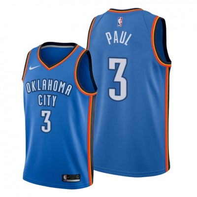 NBA Oklahoma City Thunder 3 Chris Paul Blue Nike Men Jersey