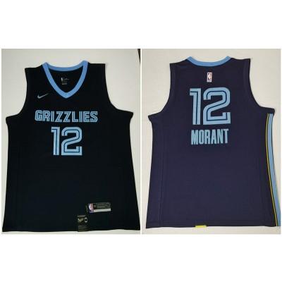 NBA Grizzlies 12 Ja Morant Navy Nike Game Men Jersey