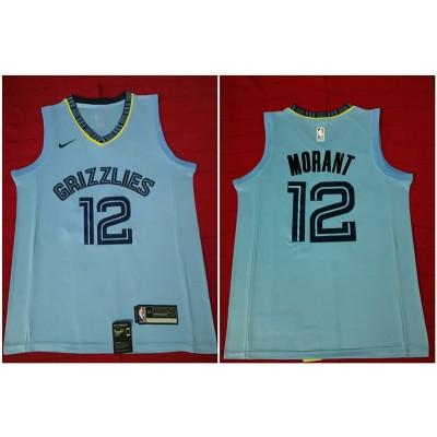 NBA Grizzlies 12 Ja Morant Light Blue Nike Swingman Men Jersey