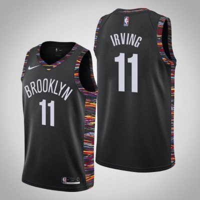 NBA Brooklyn Nets 11 Kyrie Irving Black City Edition Nike Men Jersey