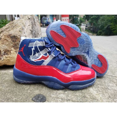Air Jordan 11 Blue Red Shoes
