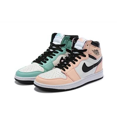 Air Jordan 1 Mid SE Pink Green Shoes