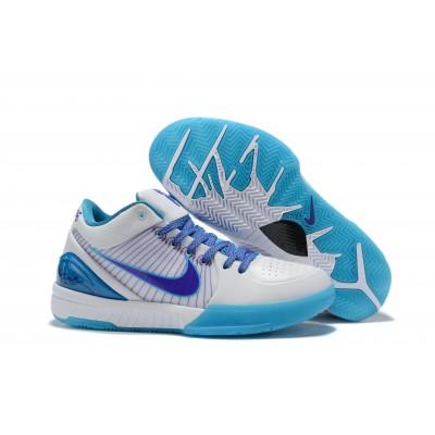 "Nike Kobe 4 Protro ""Draft Day"" White Orion Blue Varsity Purple Shoes"