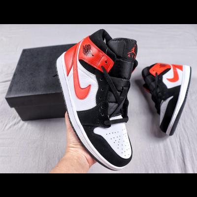 Air Jordan 1 Mid White Black Shoes