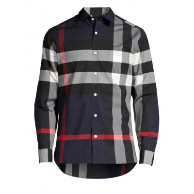 Relax-Fit Giant Exploded Check Core Stretch Woven Shirt