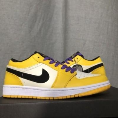 """Air Jordan 1 """"Lakers"""" Yellow Low Shoes"""