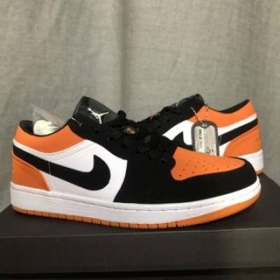 Air Jordan 1 Orange Black Low Shoes