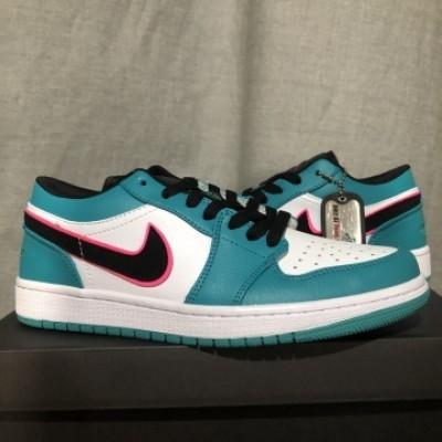 Air Jordan 1 Blue White Low Shoes