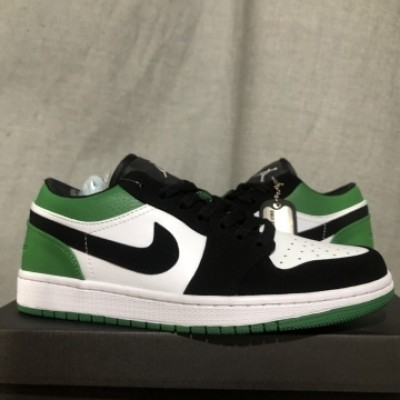 Air Jordan 1 White Green Low Shoes