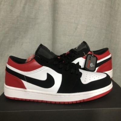 Air Jordan 1 Black Red Low Shoes