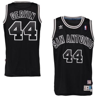 NBA Spurs 44 George Gervin Black Swingmen Men Jersey