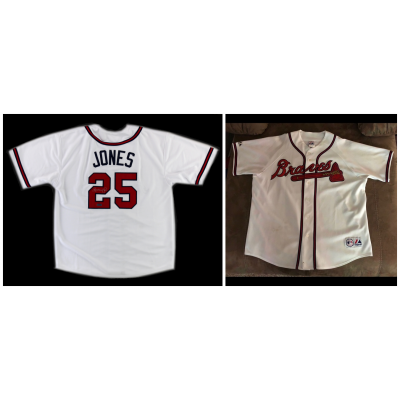 MLB Atlanta Braves 25 Andruw Jones White Cool Base Men Jersey