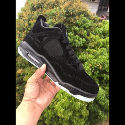 KAWS x Air Jordan 4 All Black Shoes