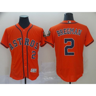 MLB Astros 2 Alex Bregman Orange Flexbase Men Jersey