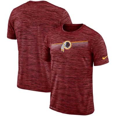 Nike Washington Redskins Sideline Velocity Performance T-Shirt Heathered Burgundy