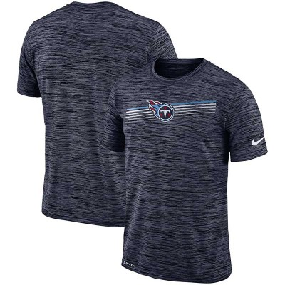 Nike Tennessee Titans Sideline Velocity Performance T-Shirt Heathered Navy