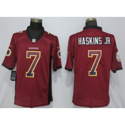 Nike Redskins 7 Dwayne Haskins Jr Burgundy Drift Fashion Limited Men Jersey