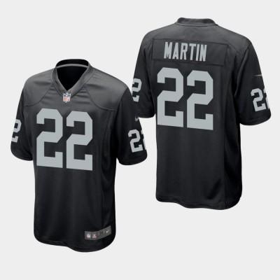 Nike Raiders 22 Doug Martin Black Elite Men Jersey