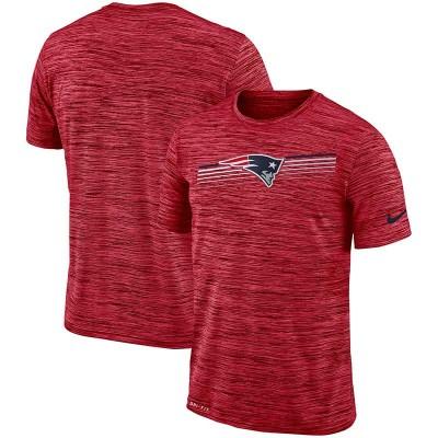 Nike New England Patriots Sideline Velocity Performance T-Shirt Heathered Scarlet