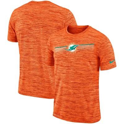 Nike Miami Dolphins Sideline Velocity Performance T-Shirt Heathered Orange