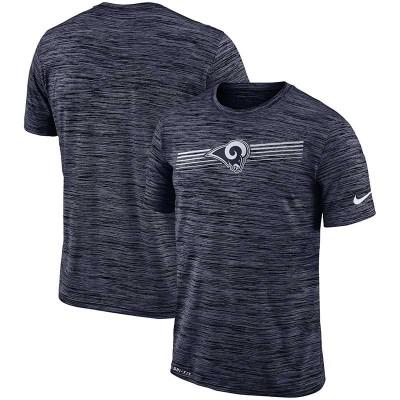 Nike Los Angeles Rams Sideline Velocity Performance T-Shirt Heathered Navy