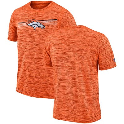 Nike Denver Broncos Sideline Velocity Performance T-Shirt Heathered Orange