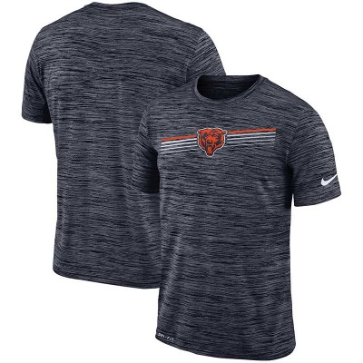 Nike Chicago Bears Sideline Velocity Performance T-Shirt Heathered Gray