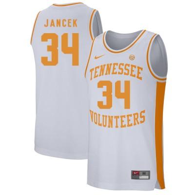 NCAA Tennessee Volunteers 34 Brock Jancek White College Basketball Men Jersey