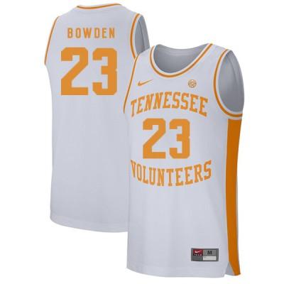 NCAA Tennessee Volunteers 23 Jordan Bowden White College Basketball Men Jersey