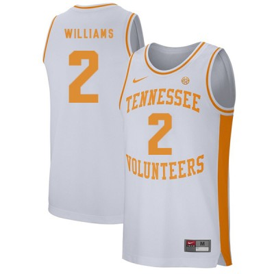 NCAA Tennessee Volunteers 2 Grant Williams White College Basketball Men Jersey