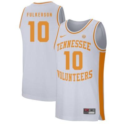 NCAA Tennessee Volunteers 10 John Fulkerson White College Basketball Men Jersey