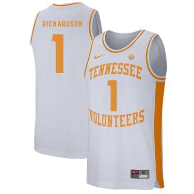 NCAA Tennessee Volunteers 1 Josh Richardson White College Basketball Men Jersey