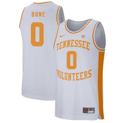 NCAA Tennessee Volunteers 0 Jordan Bone White College Basketball Men Jersey