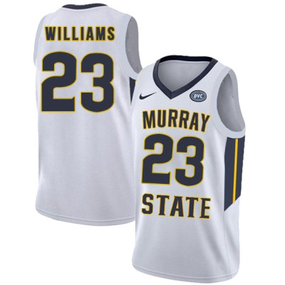 NCAA Murray State Racers 23 KJ Williams White College Basketball Men Jersey