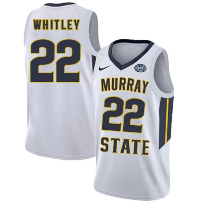 NCAA Murray State Racers 22 Brion Whitley White College Basketball Men Jersey